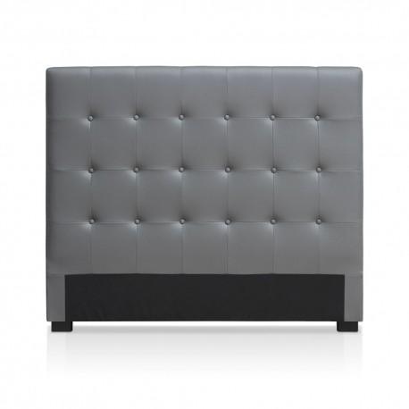 Tête de lit grise 140cm