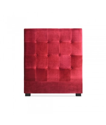 Tête de lit 90cm Velours Rouge
