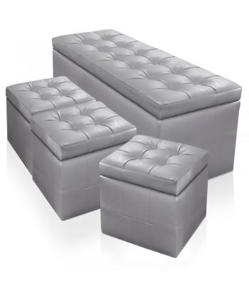 pouf en cuir pas cher pouf cuir chesterfield british deco british deco. Black Bedroom Furniture Sets. Home Design Ideas
