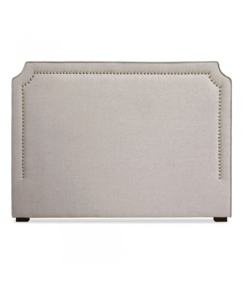 Tête de lit cloutée 160cm Tissu Beige