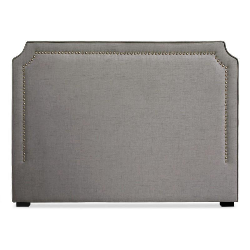 t te de lit clout e 160cm tissu taupe pas cher british d co. Black Bedroom Furniture Sets. Home Design Ideas