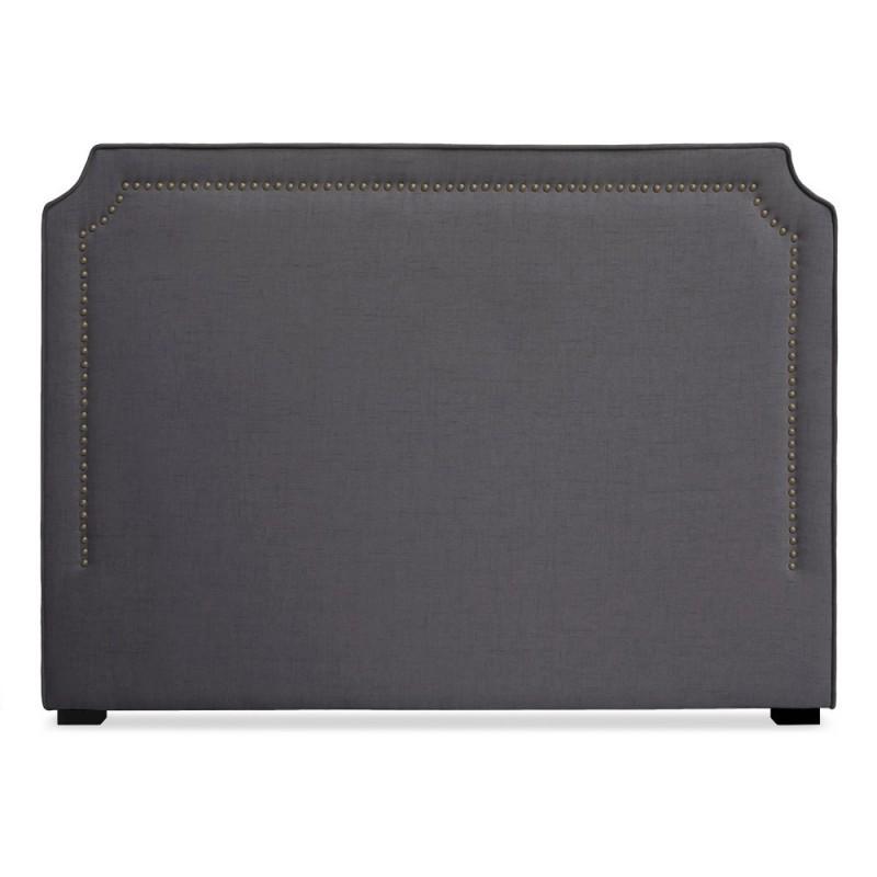 t te de lit clout e 160cm tissu gris pas cher british d co. Black Bedroom Furniture Sets. Home Design Ideas