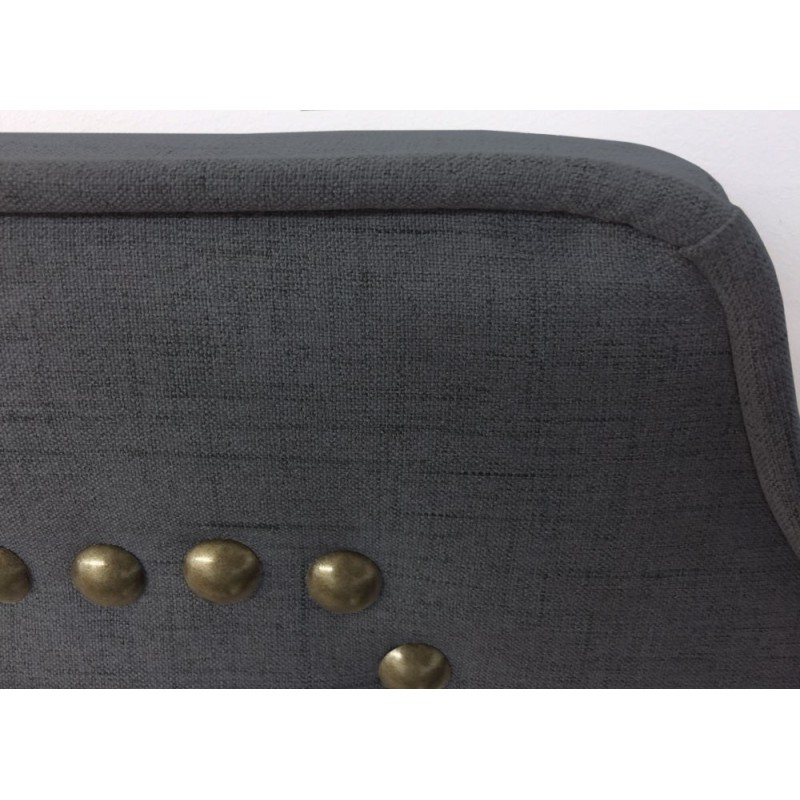 t te de lit clout e 180cm tissu gris pas cher british d co. Black Bedroom Furniture Sets. Home Design Ideas
