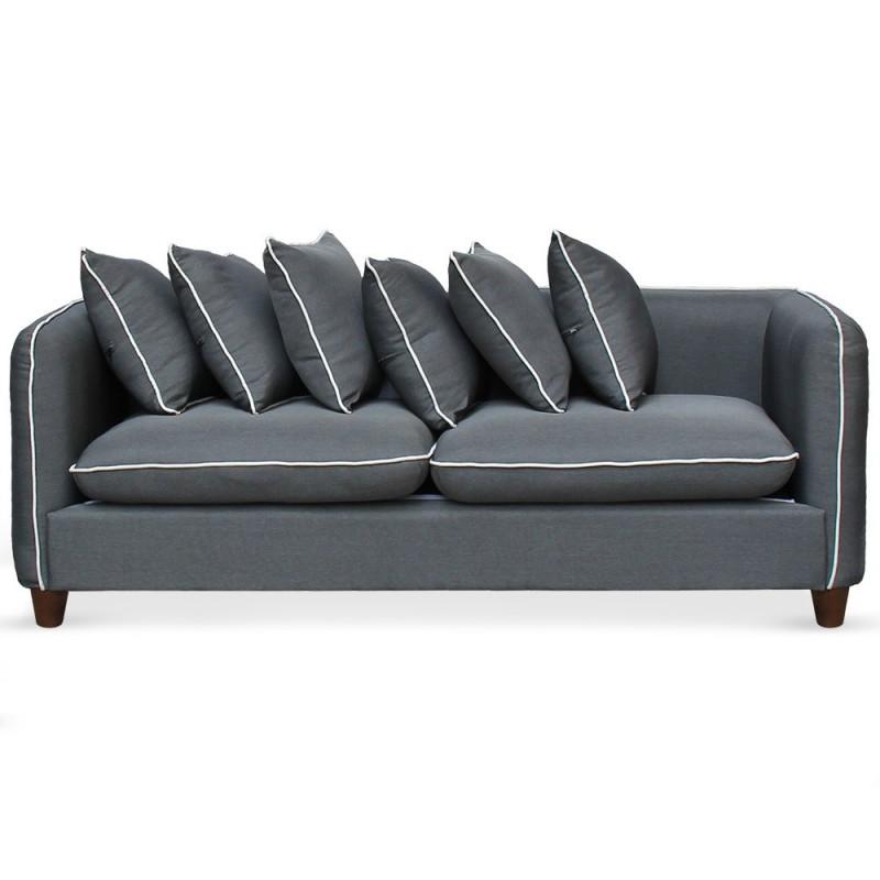 ensemble canap s et fauteuil 3 2 1 places tissu gris pas. Black Bedroom Furniture Sets. Home Design Ideas