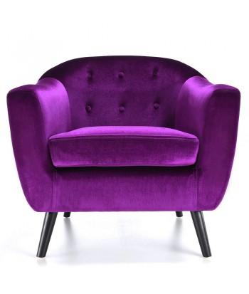 Fauteuil scandinave Velours Violet