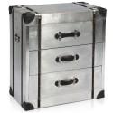 Commode métal 3 tiroirs Noir