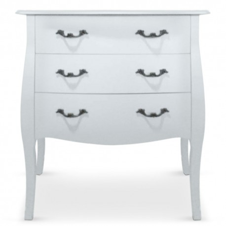 Commode 3 tiroirs Blanc Chic