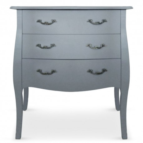 Commode 3 tiroirs Gris Chic