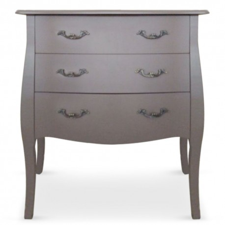 Commode 3 tiroirs Taupe Chic