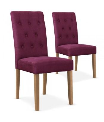 Chaises Tissu Violet lot de 2