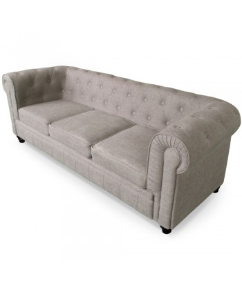 Canape 3 places Chesterfield effet Lin