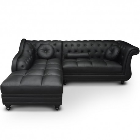 canap d 39 angle chesterfield pas cher british d co. Black Bedroom Furniture Sets. Home Design Ideas