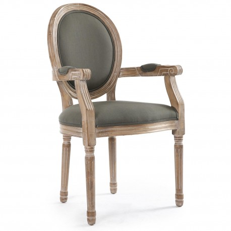 chaises m daillon louis xvi tissu gris lot de 2 pas cher british d co. Black Bedroom Furniture Sets. Home Design Ideas