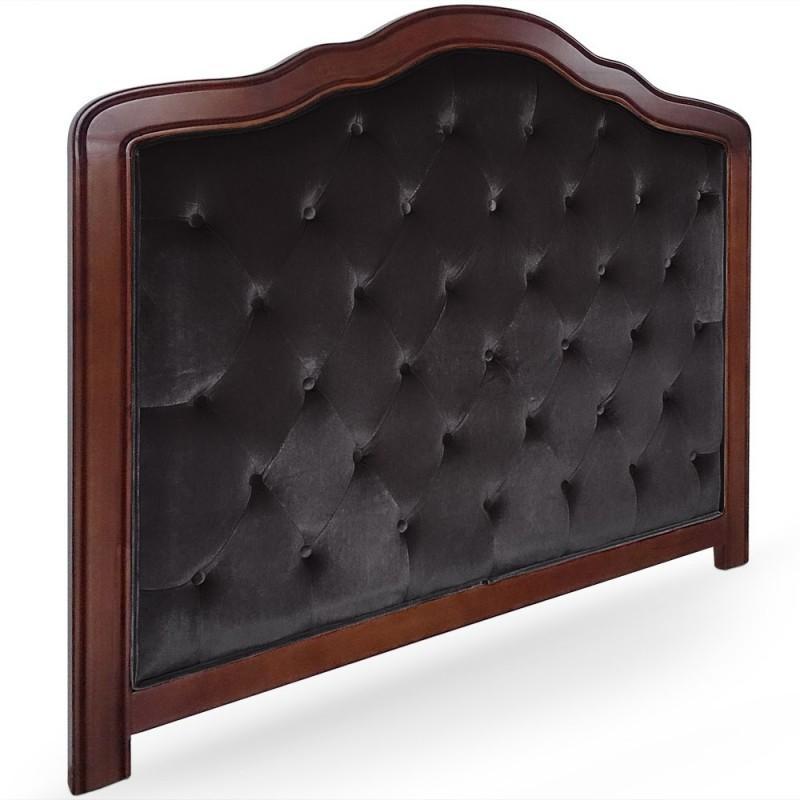 t te de lit capitonn e 140cm velours pas cher british d co. Black Bedroom Furniture Sets. Home Design Ideas