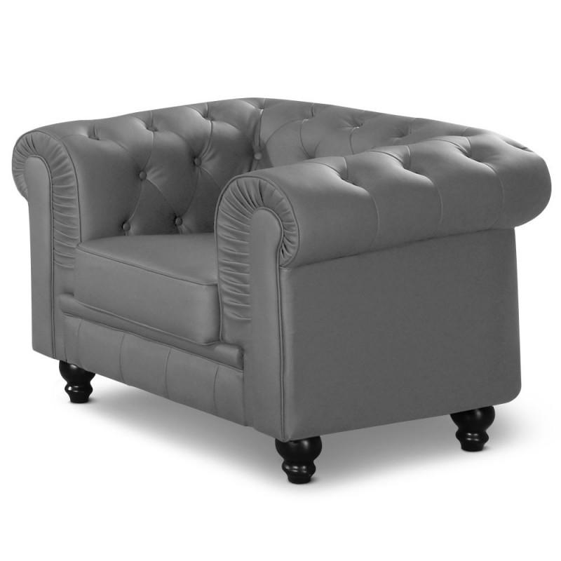 fauteuil chesterfield gris pas cher british d co. Black Bedroom Furniture Sets. Home Design Ideas