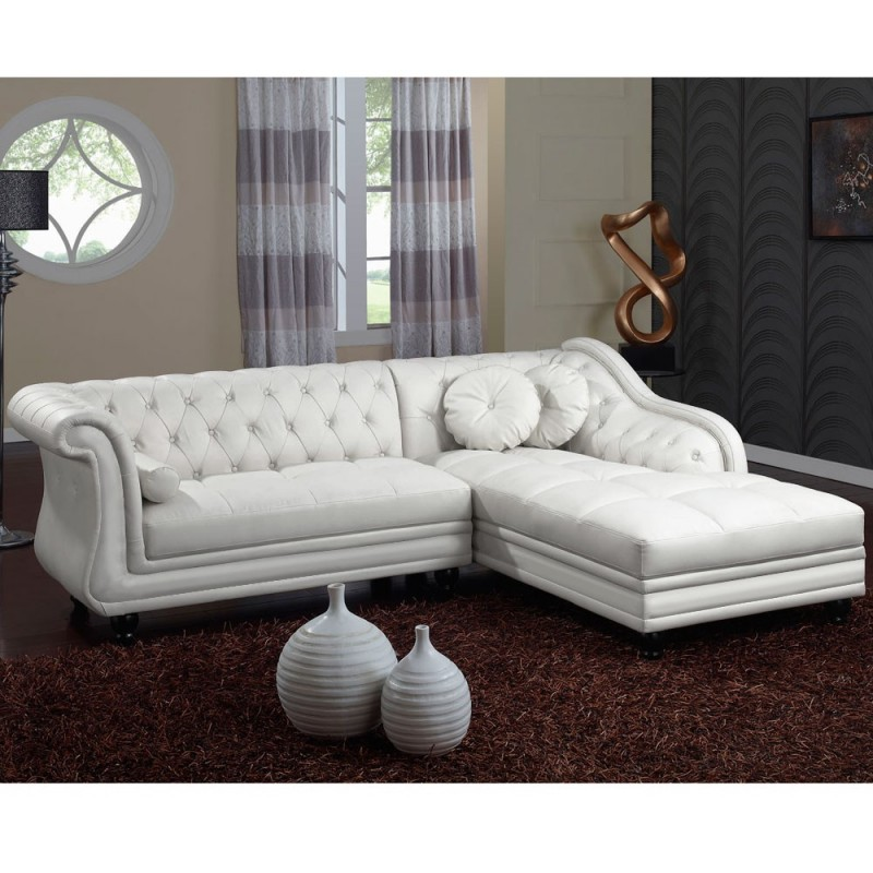 canap d 39 angle blanc chesterfield pas cher british d co. Black Bedroom Furniture Sets. Home Design Ideas