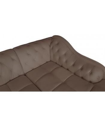 Canapé d'angle 5 Places Cuir simili taupe Droit