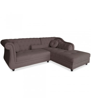 Canapé d'angle Chesterfield Tissu
