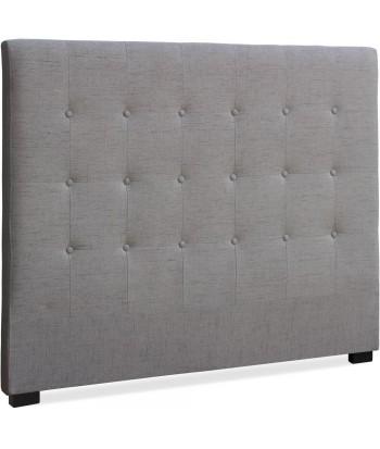 Tête de lit en tissu de couleur taupe 140 Cm