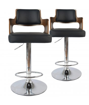 Chaises de bar vintage carré Lot de 2