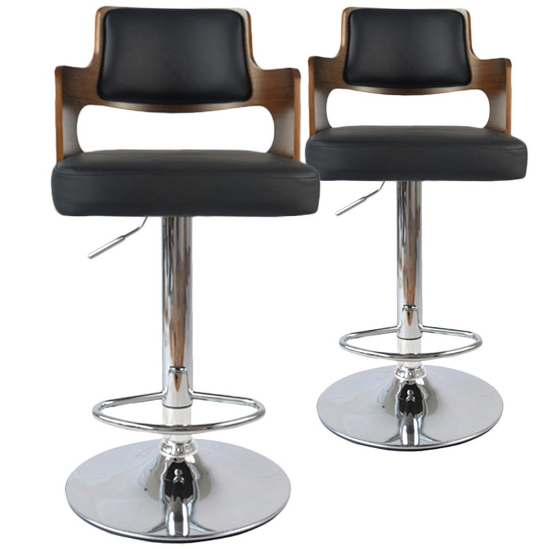 chaises de bar vintage carr lot de 2 pas cher british d co. Black Bedroom Furniture Sets. Home Design Ideas
