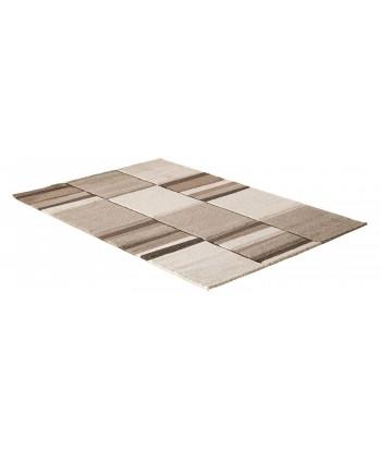 Tapis beige 120x170cm cubique