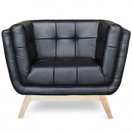 Fauteuil scandinave design Noir