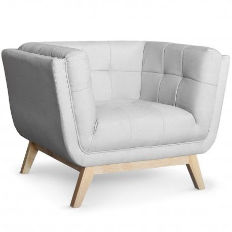 fauteuil scandinave design tissu gris pas cher british d co. Black Bedroom Furniture Sets. Home Design Ideas