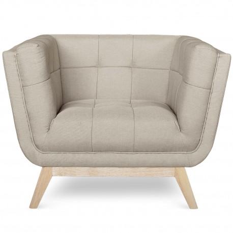Fauteuil scandinave design Tissu Beige