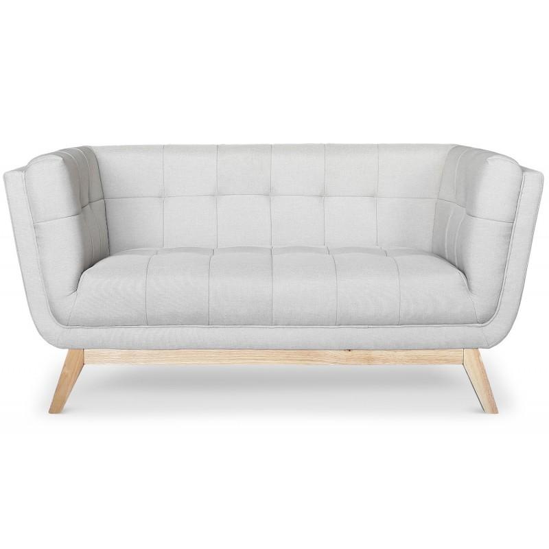 Canapé scandinave 2 places design Tissu Gris pas cher
