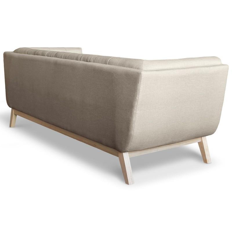 canap scandinave 3 places design tissu beige pas cher british d co. Black Bedroom Furniture Sets. Home Design Ideas
