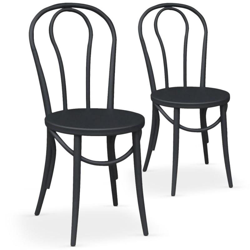 chaises bistrot noir mat lot de 2 pas cher british d co. Black Bedroom Furniture Sets. Home Design Ideas