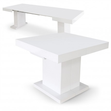 Table extensible Mustang Blanc laqué