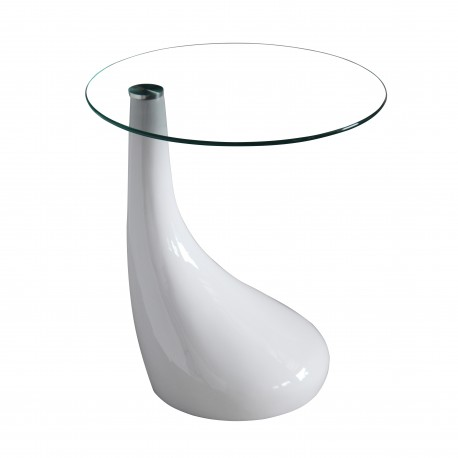 Table d'appoint design Nova Blanc