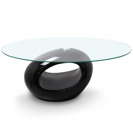 Table basse design Ring Noir