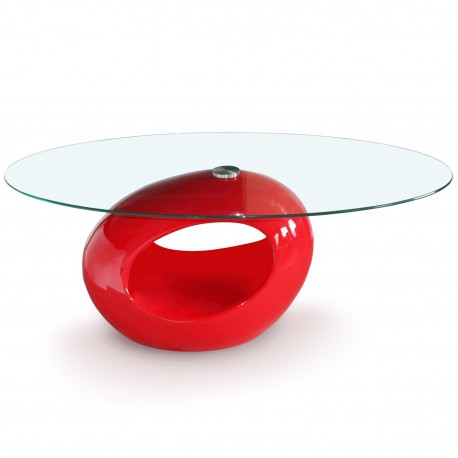 Table basse design Ring Rouge