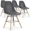 Lot de 4 chaises scandinaves Lisa Gris