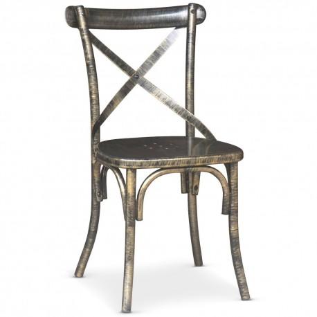 Chaise bistrot en métal Angie Bronze