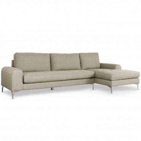 Canapé d'angle Tal Tissu Beige