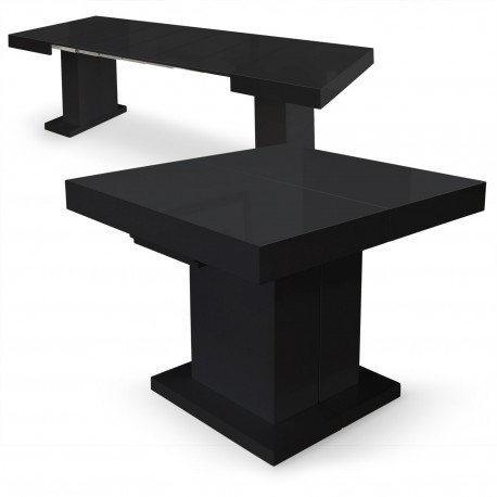 Table extensible Mustang Noir laqué