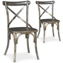 Lot de 2 chaises bistrot Angie Bronze