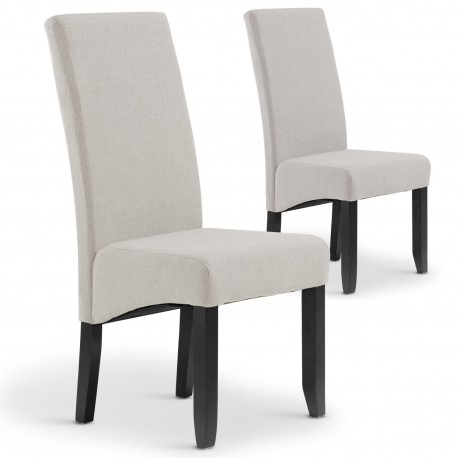 lot de 2 chaises paris tissu beige british deco. Black Bedroom Furniture Sets. Home Design Ideas