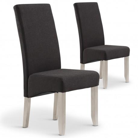 Lot de 2 chaises Paris tissu Taupe