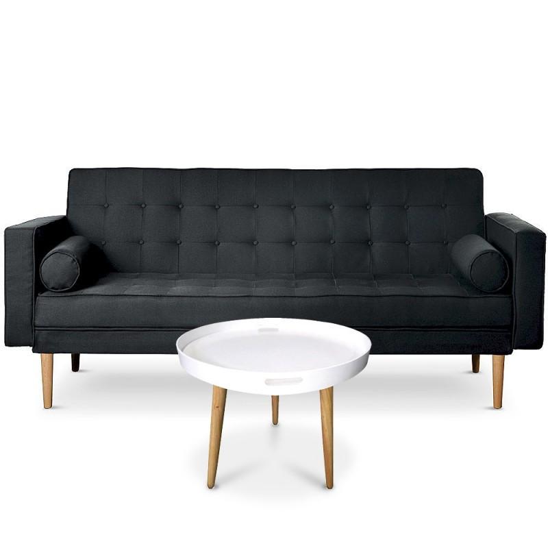 canap convertible scandinave yamato tissu noir table. Black Bedroom Furniture Sets. Home Design Ideas