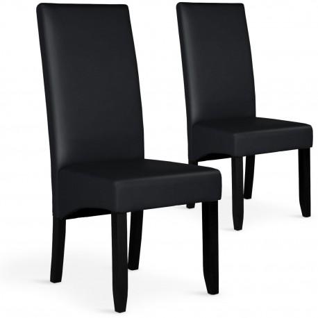 Lot de 2 chaises Paris Noir