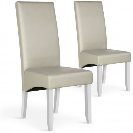 Lot de 2 chaises Paris Beige