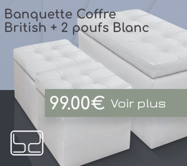 Banquette capitonneée chesterfield blanche